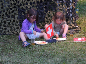 Fête National Val-de-Travers au Parc Girardier les enfants