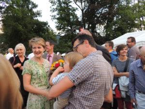 Fête National Val-de-Travers au Parc Girardier la conseillère fédérale Simonetta Sommaruga