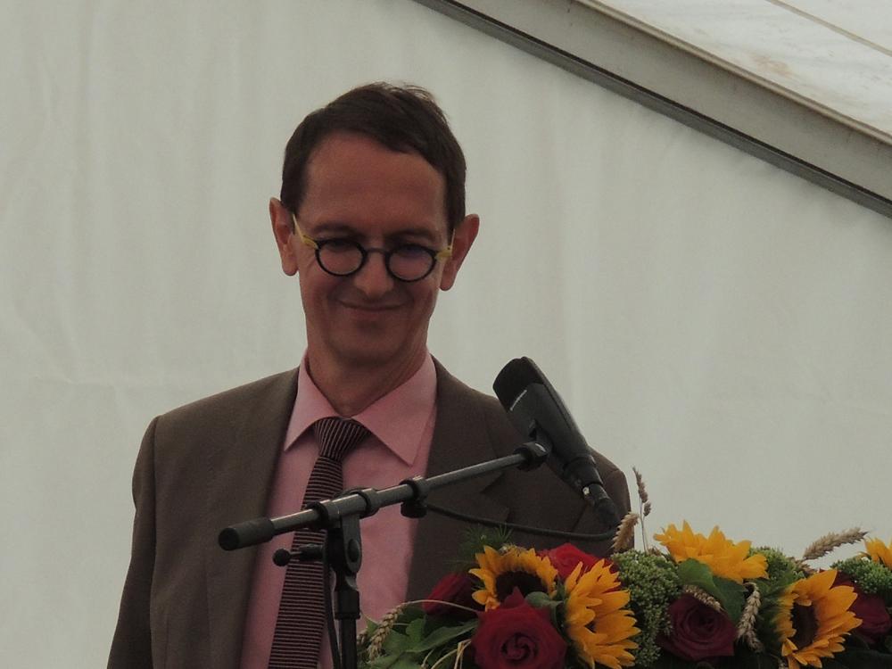 Fête National Val-de-Travers au Parc Girardier Président du conseil communal Christian Mermet