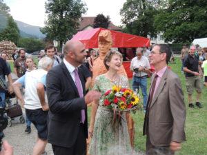 Fête National Val-de-Travers au Parc Girardier la conseillère fédérale Simonetta Sommaruga Woodvetia