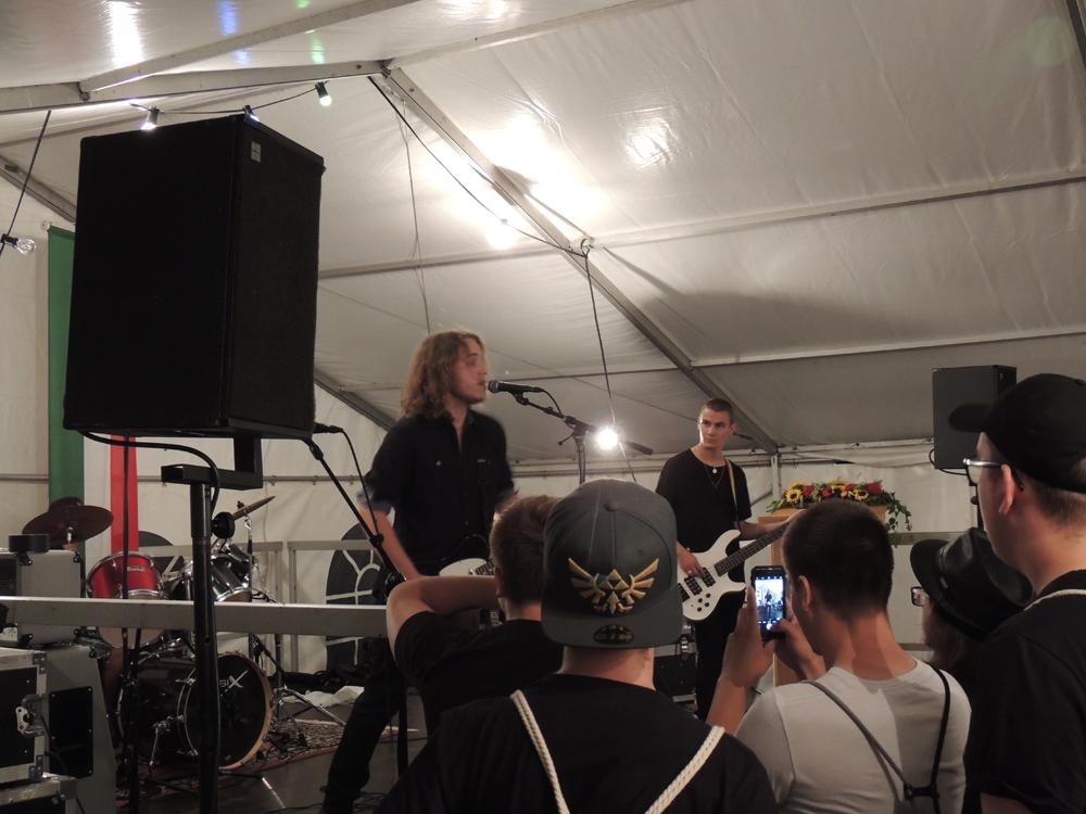 Fête National Val-de-Travers au Parc Girardier le groupe The Dark Lightning