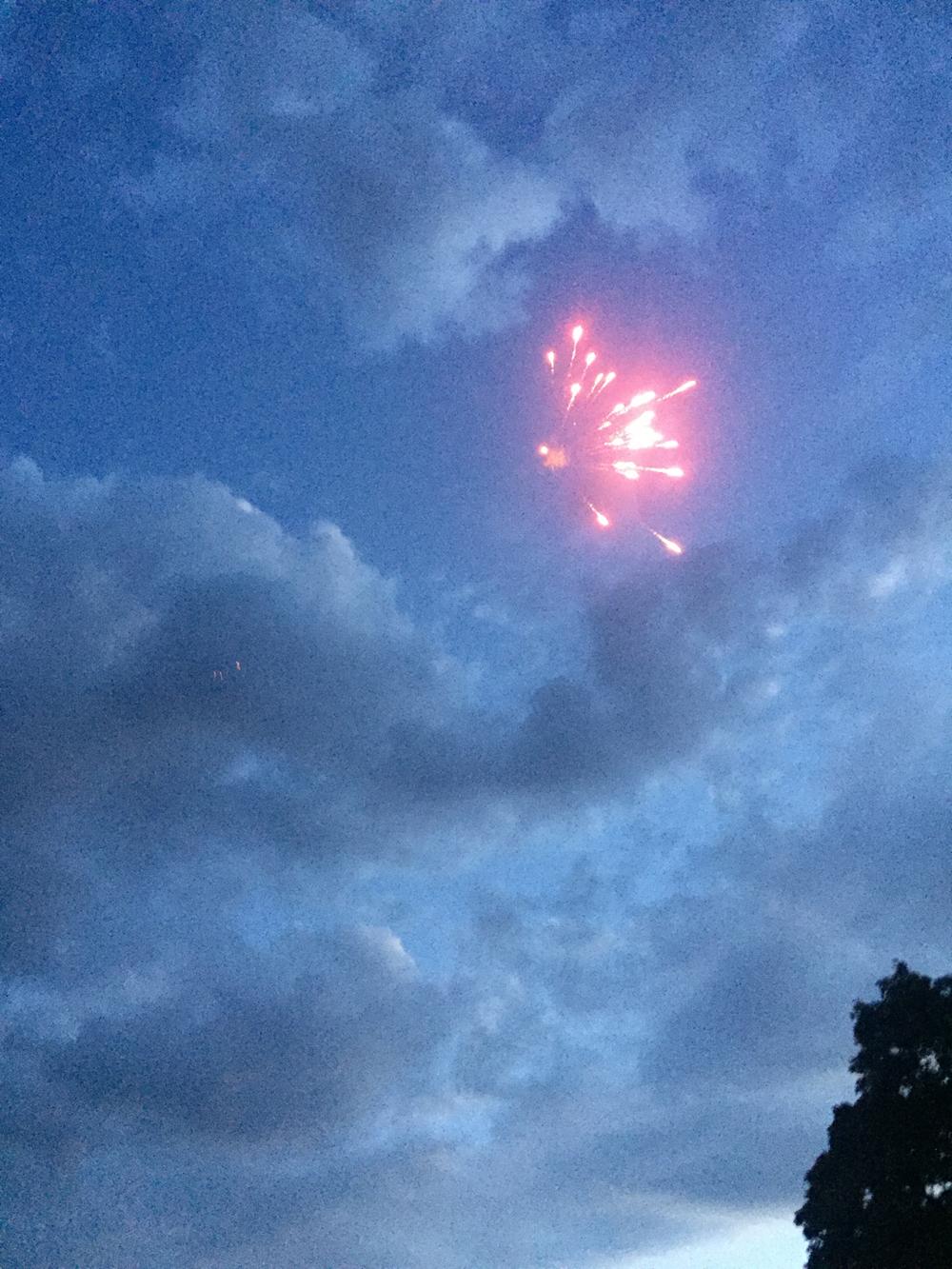 Fête National Val-de-Travers au Parc Girardier le feu d'artifice
